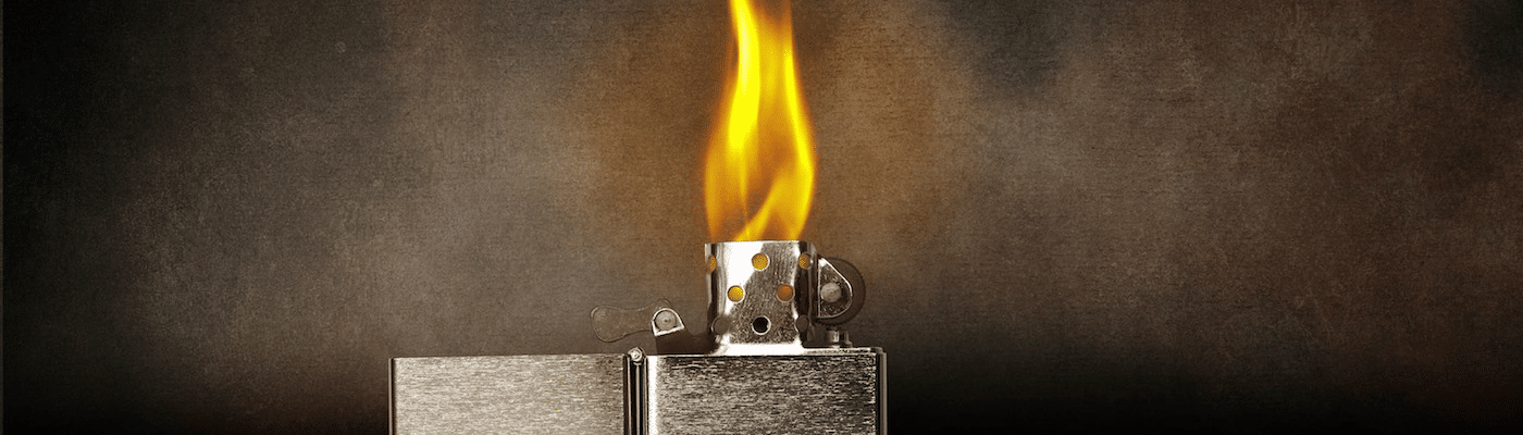 Photo of a lighter flame